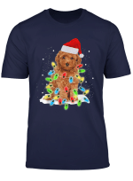 Dog Lover Christmas Gift Poodle And Fairy Light Gift T Shirt