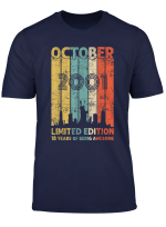 Vintage October 2001 Shirt 18 Years Old 2001 Birthday Gift T Shirt