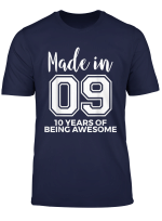 10 Year Old Born In 2009 Awesome 10Th Birthday Gift T Shirt