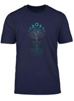 Mondphasen Tree Of Life Yggdrasil Viking Pagan Symbol T Shirt