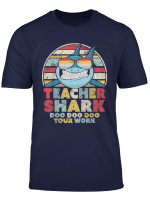 Teacher Shark Doo Doo Doo Your Work Shirt Retro Style T Shirt