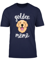 Golden Retriever Mama T Shirt For Women Mother Dog Pet Gift