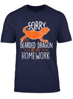 Ausrede Hausaufgaben Bartagamen Pogona Geschenk Shirt