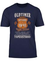 August 1941 78 Geburtstag Oldtimer Limitierte Auflage Shirt