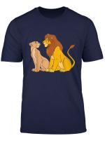 Disney The Lion King Adult Simba And Nala Together T Shirt