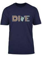 Retro Dive Platform Diving Springboard Diving T Shirt