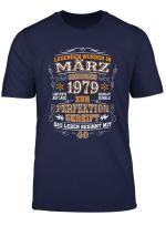 Geschenk Zum 40 T Shirt Geburtstag Jahrgang 1979 Marz