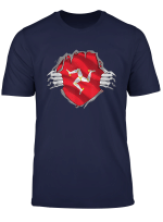 Super Manx Heritage Shirt Isle Of Man Roots Flag Gift T Shirt