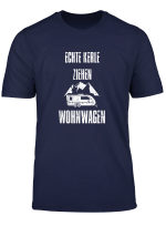 Vintage Retro Echte Kerle Ziehen Wohnwagen Camping T Shirt