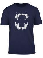 Funny Vicious Vampire Teeth Serial Killer Gift T Shirt