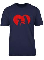 Kaninchen Herz Liebe Tshirt Pfote Hasen T Shirt