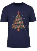 Cute Squirrel Christmas Tree Gift Decor Xmas Tree T Shirt