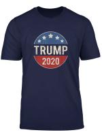 Donald Trump 2020 Retro Button Vintage Patriotic July 4Th T Shirt