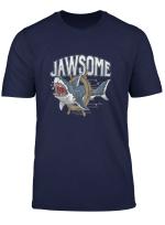Jawsome Shark Fischer Angler Surfer Taucher Hai Liebhaber T Shirt
