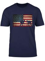 American Flag Wrestling T Shirt Cool Usa Wrestle Gift Tee