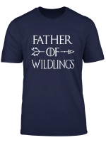 Mens Father Of Wildlings Shirt Dad Gift Father Day For Men Daddy T Shirt