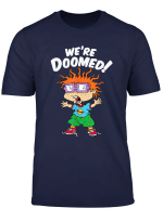 We Re Doomed White Text With Chucky T Shirt
