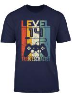 14 Geburtstag Geschenk Level 14 Unlocked Shirt Video Gamer