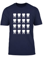 Dentist Molar Teeth Graphic Cool Dental T Shirt