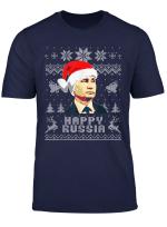 Vladimir Putin Happy Russia Lustige Weihnachten T Shirt