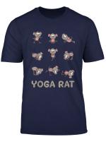 Rat Yoga Shirt Rat Yoga Pose Meditation Men Women Kids T Shirt