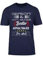 Herren Strassenbauer Bester Asphaltbauer Strassenbau Bauarbeiter T Shirt