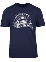 Vintage Style Montana State Mountains Retro Billings Montana T Shirt