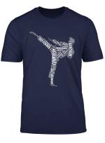 Taekwondo Fighter 5 Tenets Of Tkd Martial Arts T Shirt