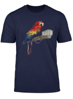 Scarlet Macaw Parrot Lover Birds Gift Colorful Parrots T Shirt