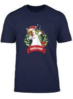 Womens Dabbing Santa Corn Unicorn Christmas T Shirt