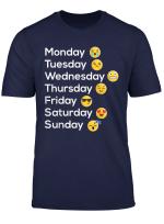 Smiley T Shirt Wochentag Stimmung Emoji T Shirt Geschenk