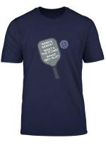 Funny Score Paddle Pickleball Gift For Retirement Men Women T Shirt