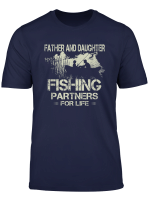 Fisherman Dad And Daughter Fishing Partners Funny Father Day T Shirt