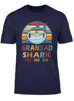 Granddad Shark Grandfather Retro Vintage Tshirt Birthday