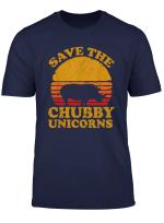 Save The Chubby Unicorns Shirt Vintage Retro Colors Tshirt