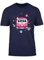 Hippie Alien Space Roadtrip Car Peace Sign Halloween Gift T Shirt