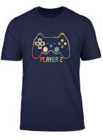 Herren Vater Sohn Shirt Partnerlook Gamer Player 2 T Shirt