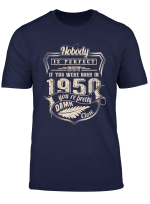 70Th Birthday Gifts Vintage Made In 1950 Classic Men Women T Shirt