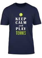 Keep Calm And Play Tennis Lustig Herren Damen Kinder T Shirt