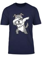 Funny Dabbing Schnauzer Dog Party Birthday Gift T Shirt