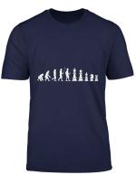 Schachfiguren Evolution Schachspieler Schach T Shirt