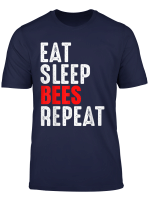Brentford Bees T Shirt Football Eat Sleep Repeat Gift Mens