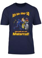 Lustiges Biker Uber 50 Helft Mir Aufs Motorrad Biker Shirt