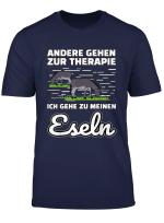 Esel Lustiger Spruch Therapie T Shirt