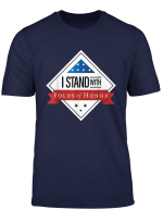 I Stand With Folds Of Honor Memorial Day T Shirt