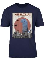 Gerbilzilla Funny Gerbil T Shirt Gift For Gerbil Lovers