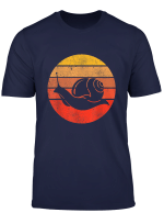 Vintage Sunset Animal Silhouette Snail T Shirt Gift