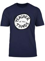 Dr Seuss Teacher Of All Things Emblem Red T Shirt