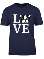 I Love My Boston Terrier T Shirt Gifts For Dog Lovers Gift