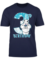 Disney Big Hero 6 Baymax 3Rd Birthday Cupcake Portrait T Shirt